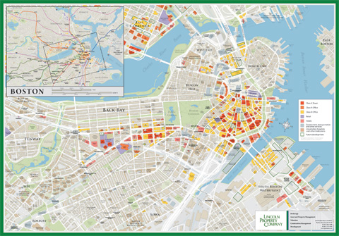 Boston and Cambridge real estate map Beehive Mapping